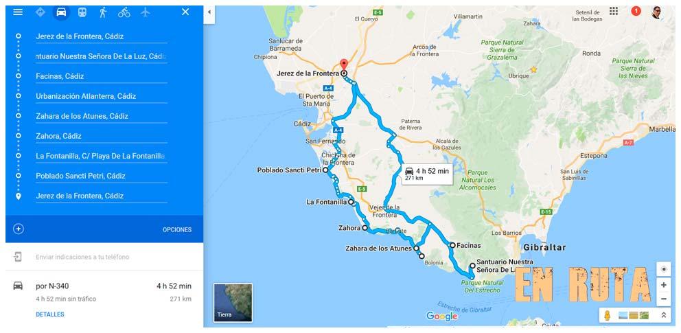 Ruta dominguera desde Jerez hasta Atlanterra
