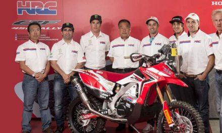 El equipo Honda dispuesto a la victoria del Dakar 2017