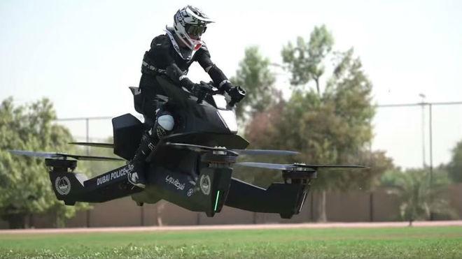 Moto voladora para la policía de Dubai