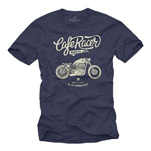 MAKAYA Camiseta Moto - Vintage Biker T-Shirt Hombre