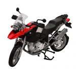 Maqueta BMW Gs 1200 escala 1/12 color rojo