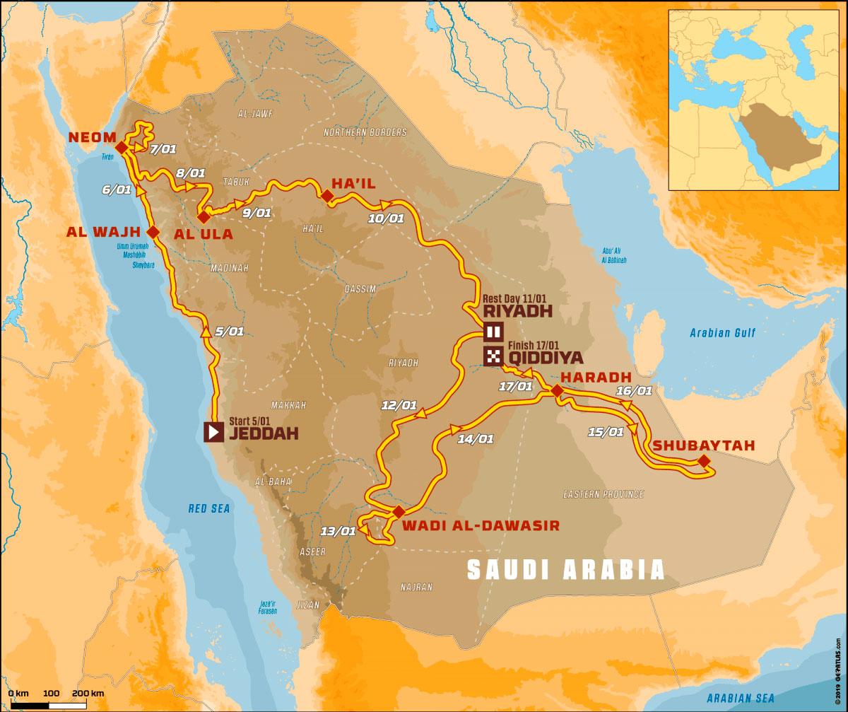 Ruta del Dakar 2020