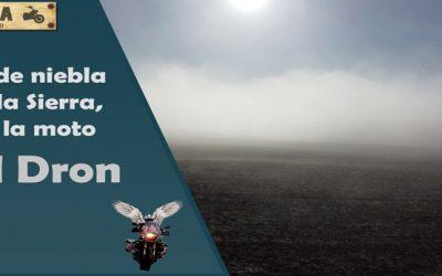 Día de niebla por la Sierra con la moto y el Mavic Mini