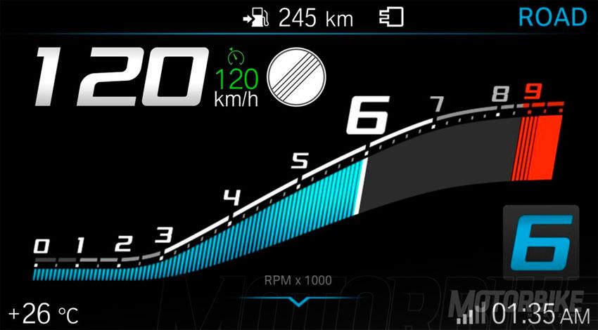 BMW F900XR. Pantalla TFT