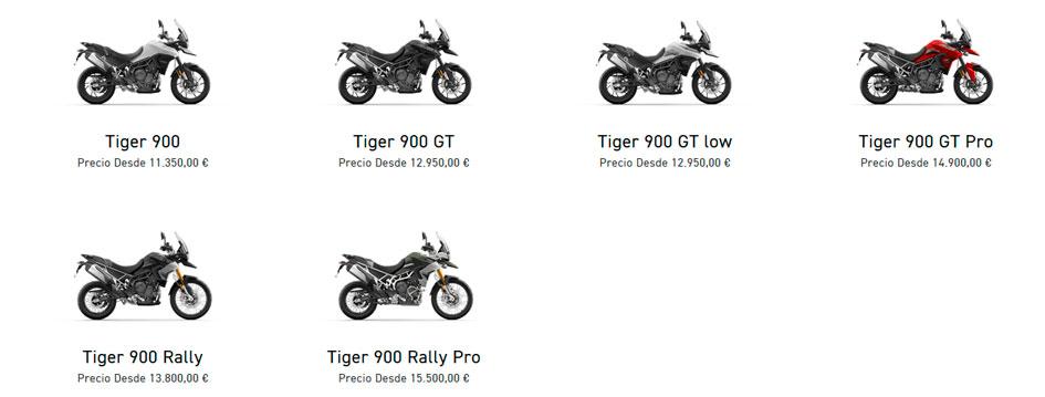 Modelos de la nueva Triumph 900