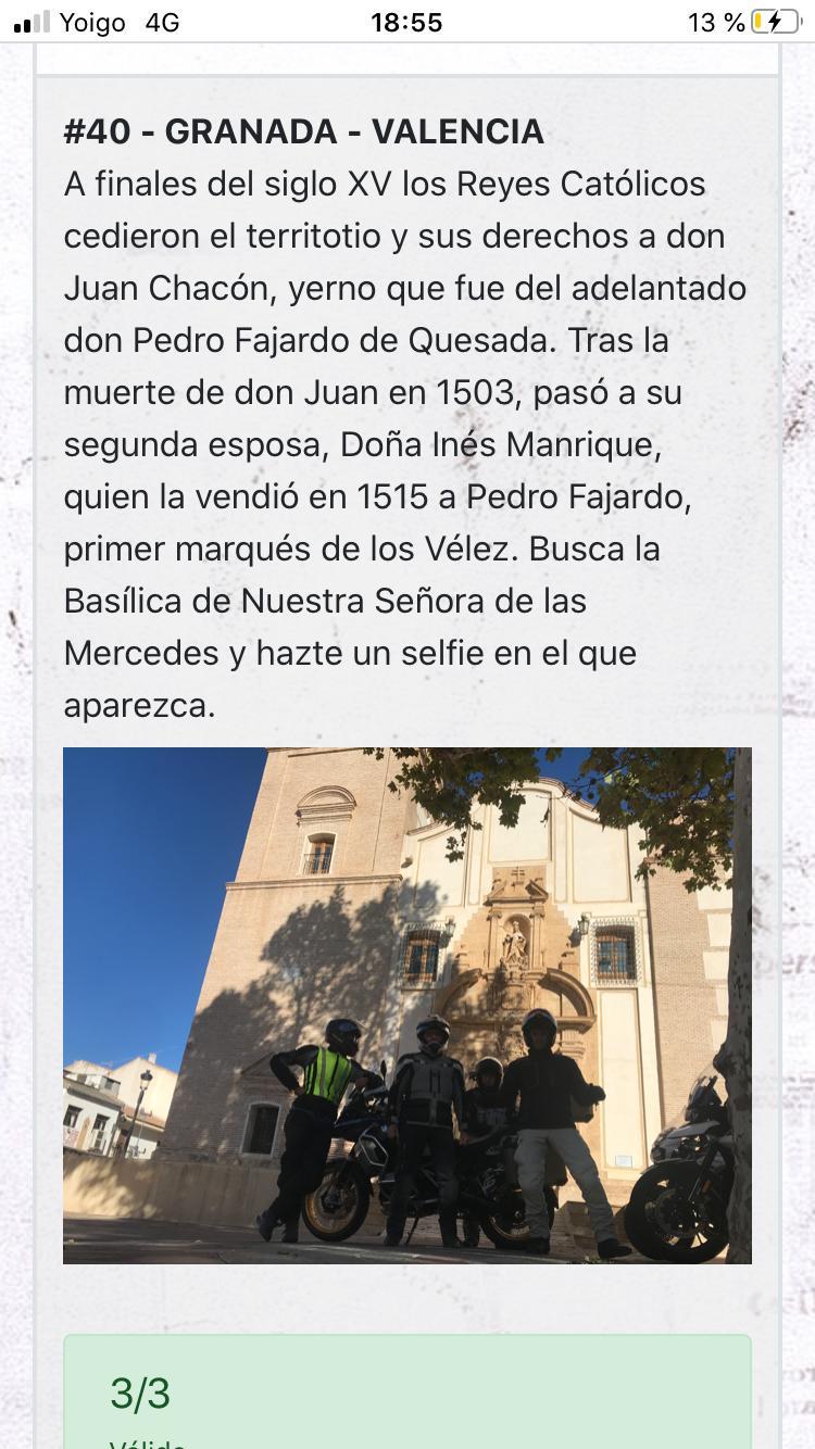 Recorrido Coast2Coast Granada-Valencia