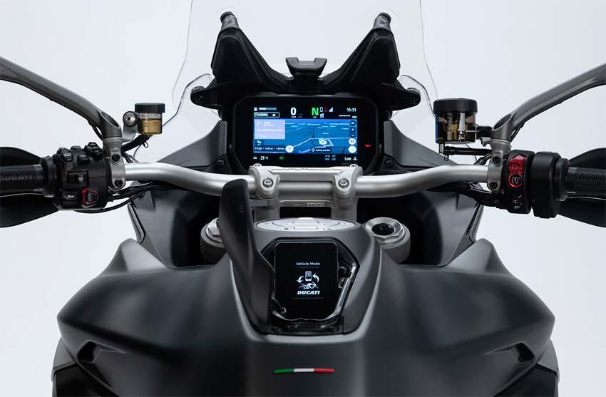 Pantalla tft de la Ducati Multistrada V4