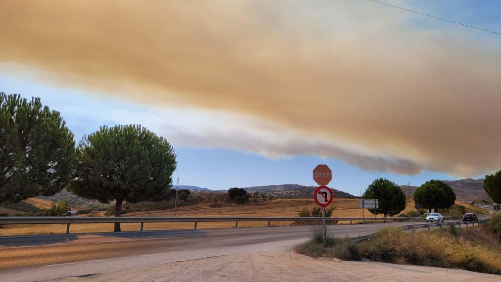 Incendio Sierra Bermeja. Desde la salida de Ronda